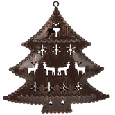Christmas Tree With Reindeer Cut-Out Ornament