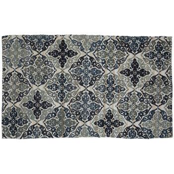 Amore Pattern Printed Chindi Rug