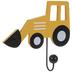 Yellow Loader Truck Wood Wall Hook