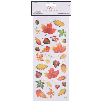 Fall Leaves Foil Stickers