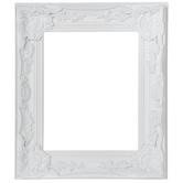 Cream White Ornate Open Wood Frame