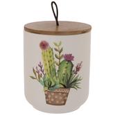 Cactus Blossom Canister