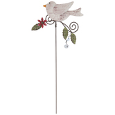 Embossed Bird Metal Garden Pick