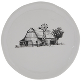 White & Black Barn Plate