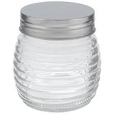 Ribbed Glass Mason Jar