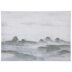 White & Green Abstract Waves Canvas Wall Decor
