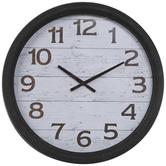 Rustic Shiplap Wall Clock