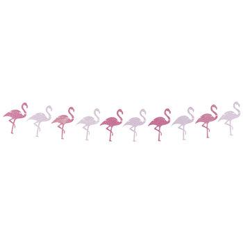 Pink Glitter Flamingo Banner
