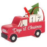 Christmas Countdown Truck Wood Decor