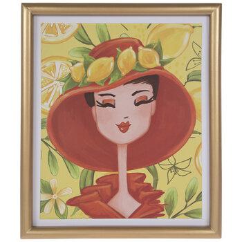 Girl With Lemons Wood Wall Decor