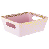 Pink & Gold Confetti Box