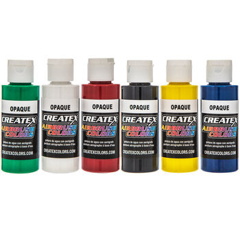 Opaque Airbrush Paints - 6 Piece Set
