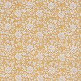 Mustard Floral Apparel Fabric