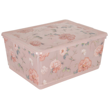 Pink Floral Container