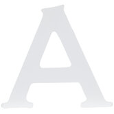 """White Wood Letter A - 3 1/2"""""""