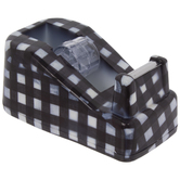 Black & White Buffalo Check Tape Dispenser
