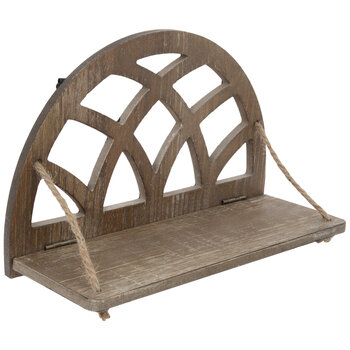 Arched Wood Wall Shelf