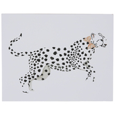 White Cheetah Wood Wall Decor