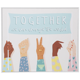 World Change Together Wood Wall Decor