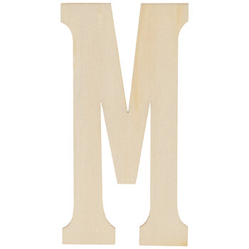 """Vintage Sign Wood Letters M - 4"""""""