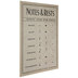 Notes & Rests Chart Wood Wall Decor