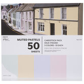 """Muted Pastels Cardstock Paper Pack - 8 1/2"""" x 11"""""""