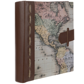 "World Map Scrapbook Album – 6"" x 4"""