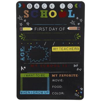 First & Last Day Of School Wood Chalkboard