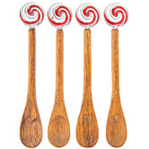 Peppermint Swirl Spoons