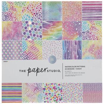 "Rainbow Watercolor Foil Paper Pack - 12"" x 12"""