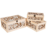Floral Wood Box Set