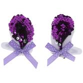 Purple Bunny Ear Hair Clips