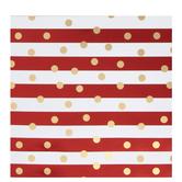 Metallic Polka Dots & Stripes Gift Wrap