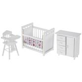 Miniature White Nursery Furniture