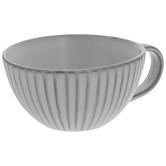 White & Brown Ridged Cup
