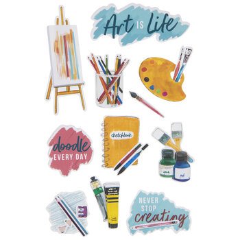 Art Is Life 3D Stickers