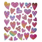 Fun Heart Foil Stickers