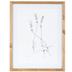 Sketched Lavender Framed Wall Decor