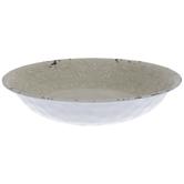 Antique White Flourish Crackled Bowl