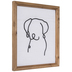 Dog Line Drawing Wood Wall Decor