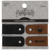 Made With Love Faux Leather Labels