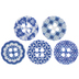 Blue Printed Buttons