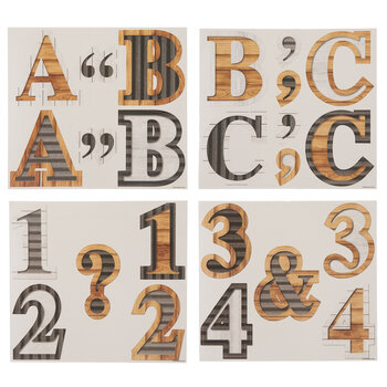Farmhouse Letter, Number & Symbol Cutouts