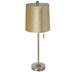 Gold Velvet Lamp