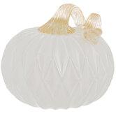 White Glass Pumpkin