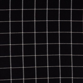 Black Graph Check Duck Cloth Fabric
