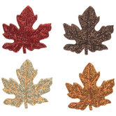 Maple Leaf Glitter Felt Stickers