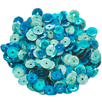 Blue Mix Holographic Round Cup Sequins - 8mm