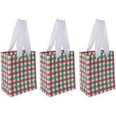 Red & Green Buffalo Check Gift Bag