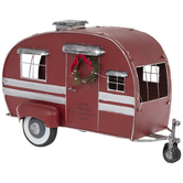 Light Up Metal Camper
